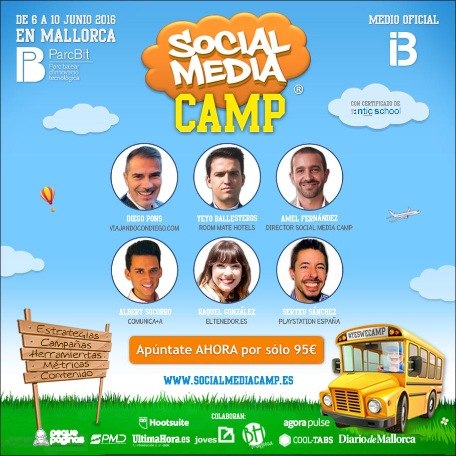 Social Media Camp en Mallorca junio 2016