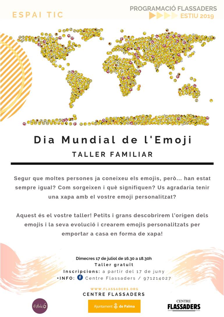 Temps x tu Taller Familiar Emoji en Flassaders junio 2019