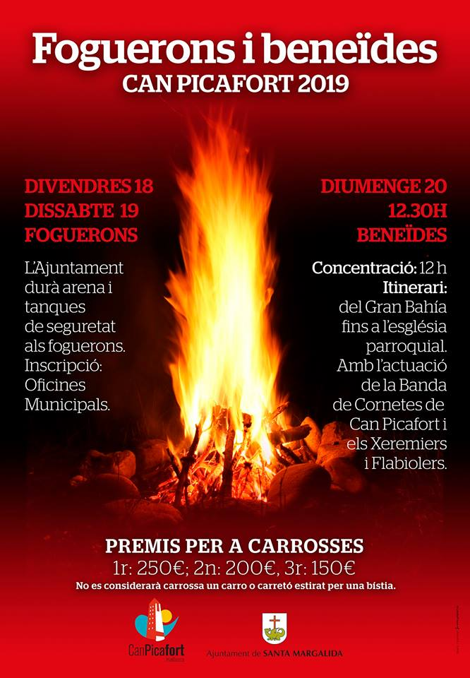 Sant Antoni carrosses en Can Picafort Santa Margalida 2019